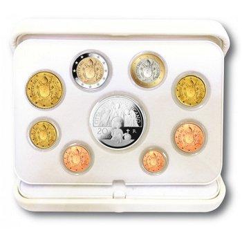 Kursmünzensatz 2017 inklusive 20 Euro Silbermünze, polierte Platte, Vatikan