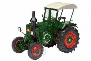Modelltraktor:Lanz Ackerluft Bulldog D 9506 mit Dach von 1936, grün(Schuco, 1:18)