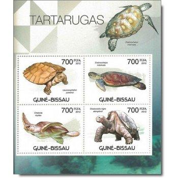 Schildkröten - Briefmarken-Block postfrisch, Guinea-Bissau