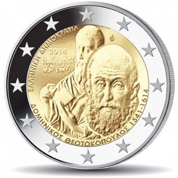 400. Todestag von El Greco, 2 Euro Münze 2014, Griechenland