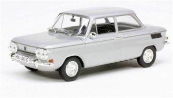 Modellauto:NSU TT von 1969, silber(Norev, 1:43)