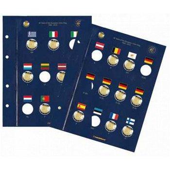 2 Münzblätter Vista für 2-Euro-Münzen, 30 Jahre Europa-Flagge, Leuchtturm 347758