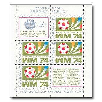 WM in Deutschland 1974 - Briefmarken-Block postfrisch, Block 60, Polen