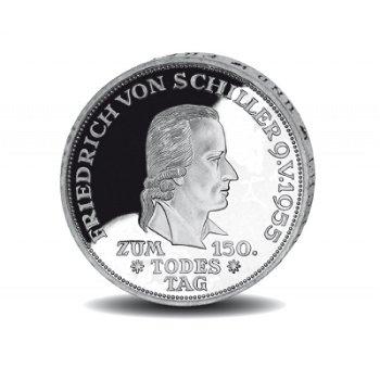"""5-DM-Silbermünze """"150. Todestag Friedrich von Schiller"""", vorzügliche Erhaltung"""