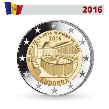 eform von 1866, 2 Euro Münze 2016, Andorra