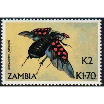 Goliathkäfer - Briefmarke mit lokalem Aufdruck, Katalog-Nr. 573, Sambia