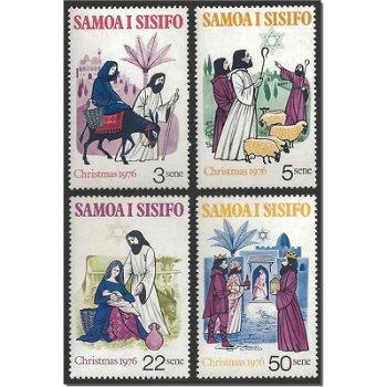 Weihnachten – vier Briefmarken postfrisch, Katalog-Nr. 342-345, Samoa