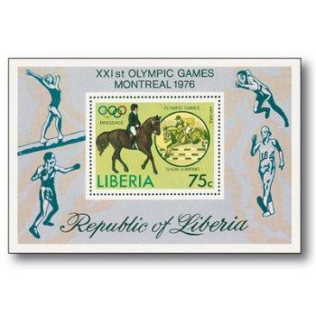 Olympische Spiele Montreal - Briefmarkenblock postfrisch, Liberia