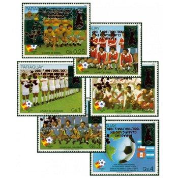 Fußball-Weltmeisterschaft - sechs Sonder-Überdruckmarken, Paraguay