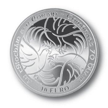 Frieden in Europa, 10 Euro Silbermünze, Irland