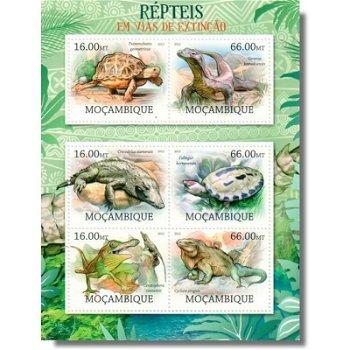 Reptilien am Rande des Aussterbens - Briefmarken-Block postfrisch, Katalog-Nr. 5760-5765, Mocambique