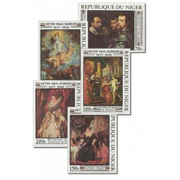 400. Geburtstag von Peter Paul Rubens - 5 Briefmarken ungezähnt postfrisch, Katalog-Nr. 607-611, Nig