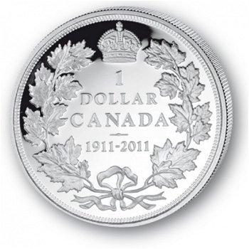 100 Jahre Canada Dollar - Silberdollar 2011, 1 Dollar Silbermünze, Canada