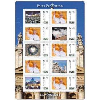 Papst Franziskus - Kleinbogen postfrisch, Deutschland