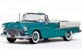 Modellauto:Chevrolet Bel Air Cabriolet von 1955, blau-weiß(Vitesse, 1:43)