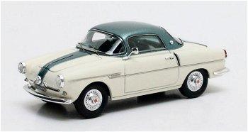 Modellauto:Fiat 600 Viotti Coupé von 1959, weiß/grün(Matrix, 1:43)