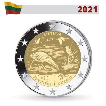 Biosphärenreservat Zuvintas - 2 Euro Gedenkmünze, Litauen