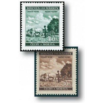 Prager Messe - 4 Briefmarken postfrisch, Katalog-Nr. 75 - 78, Böhmen und Mähren