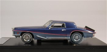 Modellauto:Stutz Blackhawk Coupé von 1971, dunkelblau-hellblau(Premium X, 1:43)