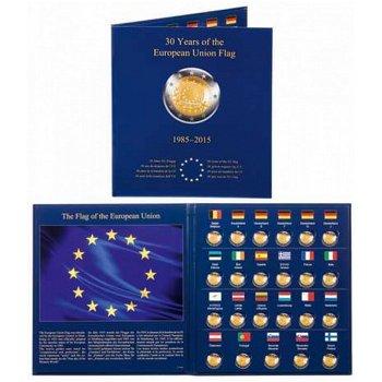 Münzalbum Presso, 30 Jahre Europa-Flagge, für 23 Münzen aus der 2-Euro-Serie, Leuchtturm 347757
