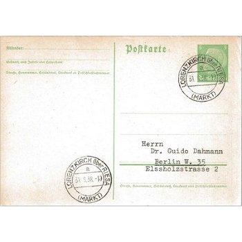 """8401 Lorenzkirch - Ganzsache """"Markt"""""""