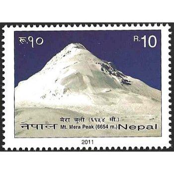 Mount Mera – Briefmarke postfrisch, Nepal