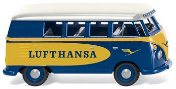 Modellauto:VW T1 Bus - Lufthansa -(Wiking, 1:87)