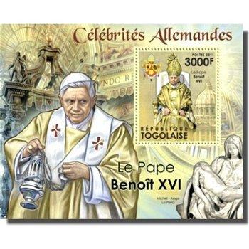 Papst Benedikt XVI. - Briefmarken-Block, Togo