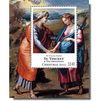 """Raffael """"Weihnachten 2012"""" - Briefmarken-Block postfrisch, St. Vincent & Grenadinen"""