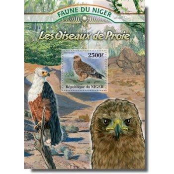 Raubvögel - Briefmarken-Block postfrisch, Niger