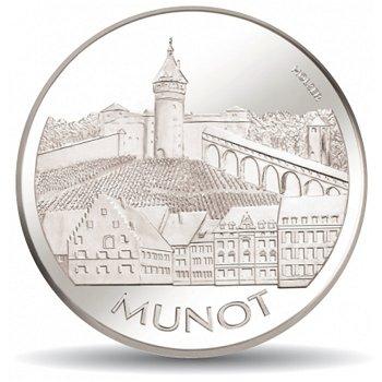 Berühmte Bauten - Munot, 20 Franken Münze 2007 Schweiz, Stempelglanz
