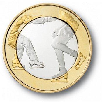 Es lebe der Sport - Eiskunstlauf, 5 Euro Münze, Finnland