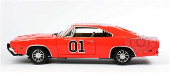 Modellauto:Dodge Charger - General Lee -aus dem Film: The Dukes of Hazzard(Auto World, 1:18)