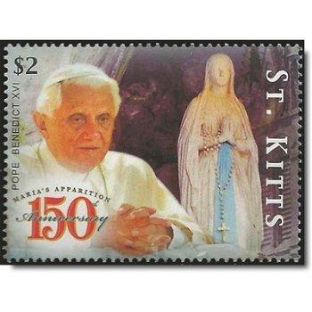 150. Jahrestag der ersten Marienerscheinung in Lourdes - Briefmarke postfrisch, St. Kitts