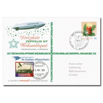 Die Zeppelin-Weihnachtspost 2010, Schweiz