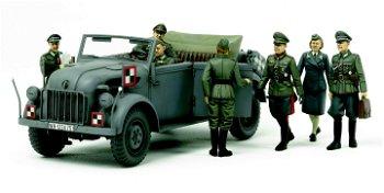 Militaria-Bausatz:Steyr 1500 A Kommandeurwagen mit 7 Figuren(Tamiya, 1:35)