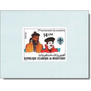 75 Jahre Pfadfinderbewegung - 4 Luxusblocks postfrisch, Katalog-Nr. 744-747, Mauretanien