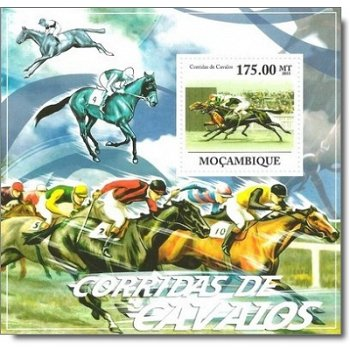 Pferderennen - Briefmarken-Block postfrisch, Mocambique