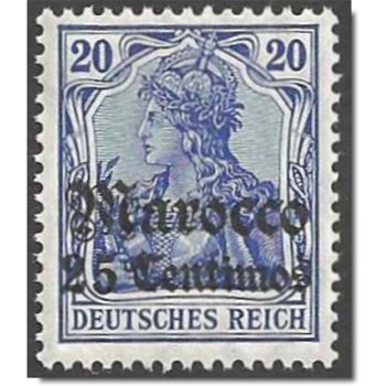 German Post in Morocco - Catalog No. 37A, mint never hinged