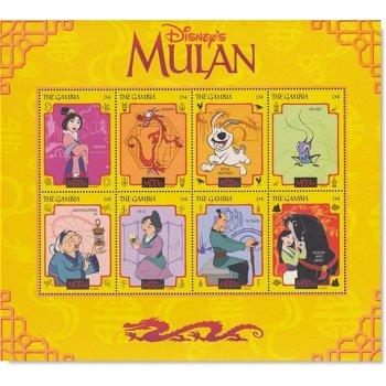 Comic: Walt Disney, Mulan - Kleinbogen Nr. 384 postfrisch, Gambia