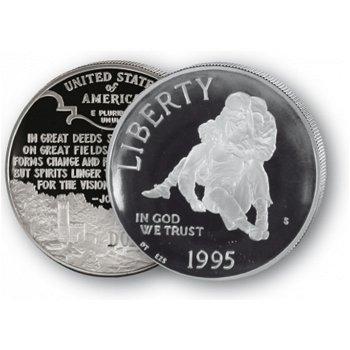Bürgerkriegsgedenkstätte - Silberdollar 1995, 1 Dollar Silbermünze, USA