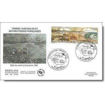 50 Jahre Forschungsstation an der Baie du Martin auf der Crozet-Insel – 2 Ersttagsbriefe, Katalog-Nr