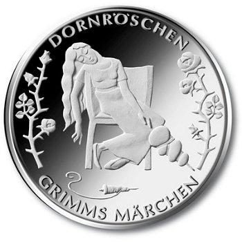 Grimms Märchen/Dornröschen, 10-Euro-Gedenkmünze 2015, Polierte Platte
