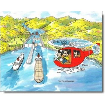 "Panamakanal ""Disney-Figuren"" - Briefmarken-Block postfrisch, Bhutan"