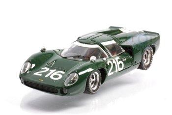 Modellauto:Lola T 70 Rennsportwagen mit # 216 von 1967, grün(Best, 1:43)