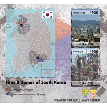 Briefmarkenausstellung Korea 2014 - Briefmarken-Block postfrisch, Katalog-Nr. 5862 - 63, Sierra Leon