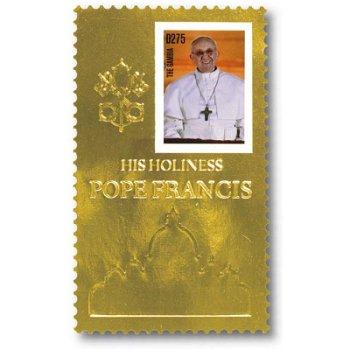 Papst Franziskus - Briefmarken-Block postfrisch, Gambia