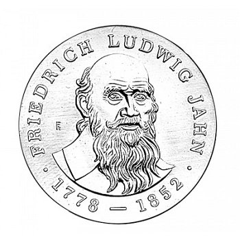 "5-Mark-Münze 1977 ""125. Todestag Friedrich Ludwig Jahn"", DDR"