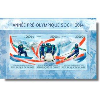 Winterspiele 2014 - Briefmarken-Block postfrisch, Guinea