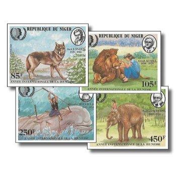 Internationales Jahr der Jugend - 4 Briefmarken ungezähnt postfrisch, Katalog-Nr. 933-936, Niger